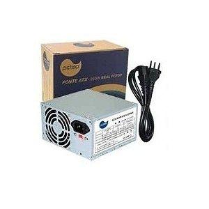 Fonte ATX-200W Reais 20+4P Bivolt 2x ide 2x sata 1x floppy -  PCTOP