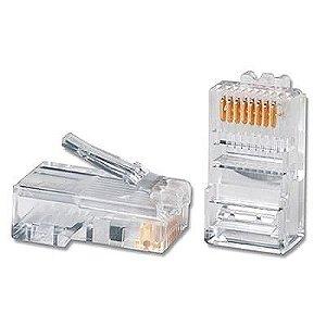 Conector RJ45 - Pacote com 100 Unidades