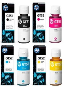 Kit Refil Gt 5822 416 51 52 4 Cores Frascos Original Hp