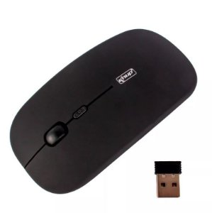 MOUSE OPTICO SEM FIO WIRELESS 2.4GHZ PRETO G21