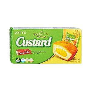 Bolinho de Creme Custard 6un. 138g - Lotte