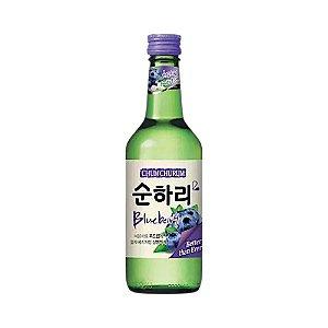 Soju Coreano Mirtilo (Blueberry) 360ml - Chum Churum Lotte