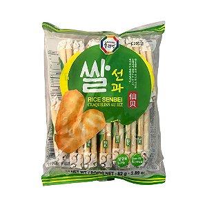 Biscoito de Arroz Salgado Sembei (Senbei) 82g - Surasang