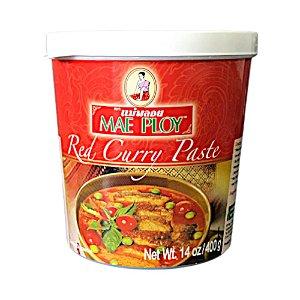 Pasta de Curry Vermelho 400g - Mae Ploy