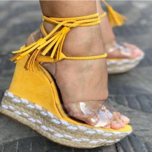 Sandália AnaBella Nova Coleção Corda Salto Alto Yellow 39