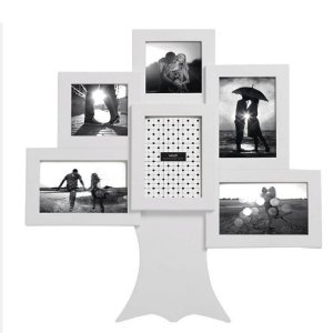 Porta-Retrato 6 Fotos Mart Branco Parede ou em pé