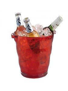 Balde de Gelo - Cerveja Acrílico Vermelha 4,3 Litros