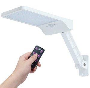 Luminária solar 48 Led Branca com sensor de movimento e Controle Remoto