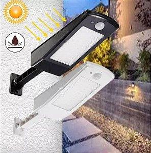 Luminária solar 48 Led Preta com sensor de movimento e Controle Remoto