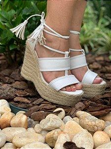 Sandália Ana Bella Corda Salto Alto white One