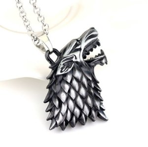 Colar E Pingente Stark Game Of Thrones Lobo Wolf