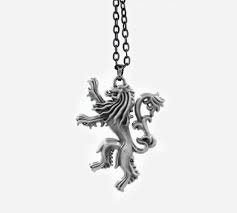 Colar Casa Lannister Game Of Thrones Got Leão Lion Silver