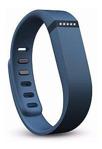 Pulseira Para Fitbit Flex Cor Azul Navy Ou Black - Tamanho G