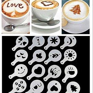 Kit Com 16 Artes De Decoração De Café Coffee