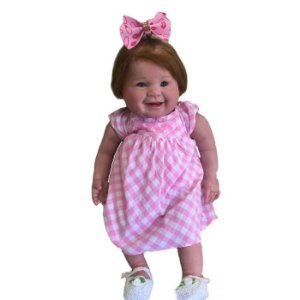 Bebê reborn Juliana artesanal Piihreborn Material Importado