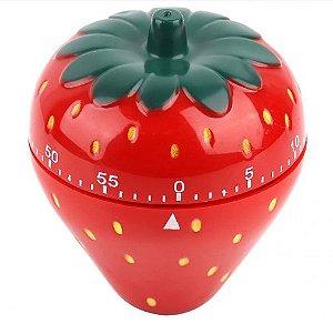 Timer Temporizador de Cozinha Morango 60 Minutos Importado