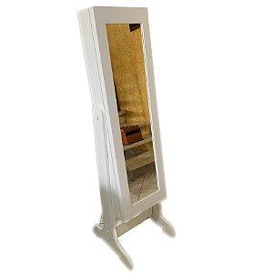 A Espelho Classic Armário Porta Joias de Corpo Móvel com Chave 160 cm