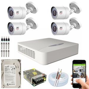 Kit CFTV JFL 04 Câmeras CHD-1110P e DVR de 04 Canais DHD-2104N 500GB