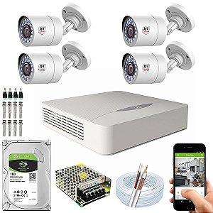 Kit CFTV JFL 04 Câmeras CHD-1110P e DVR de 08 Canais DHD-2108N