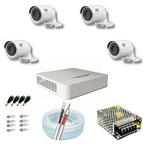 Kit CFTV JFL 04 Câmeras CHD-1130P e DVR de 04 Canais DHD-2104N S/ HD