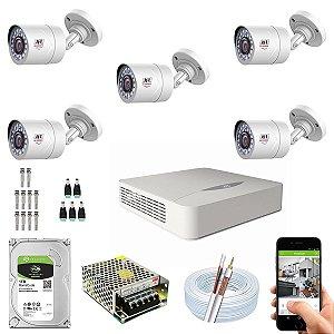 Kit CFTV JFL 05 Câmeras CHD-1110P e DVR de 08 Canais DHD-2108N