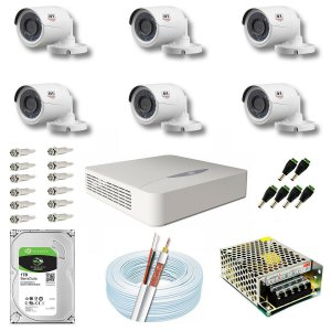 Kit CFTV JFL 06 Câmeras CHD-1130P e DVR de 08 Canais DHD-2108N