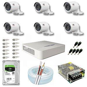 Kit CFTV JFL 06 Câmeras CHD-2230P e DVR de 08 Canais DHD-2108N