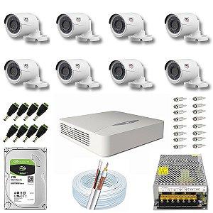 Kit CFTV JFL 08 Câmeras CHD-2230P e DVR de 16 Canais DHD-2116N