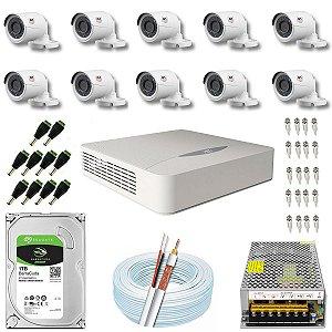 Kit CFTV JFL 10 Câmeras CHD-2230P e DVR de 16 Canais DHD-2116N