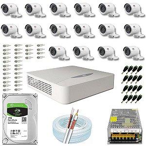 Kit CFTV JFL 16 Câmeras CHD-1130P e DVR de 16 Canais DHD-2116N