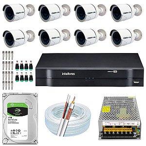 Kit CFTV 08 Câmeras AHD e DVR de 16 Canais MHDX 1116