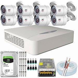 Kit CFTV JFL 08 Câmeras CHD-2110P e DVR de 08 Canais DHD-3308
