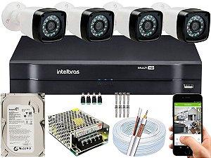 Kit CFTV 04 Câmeras EJCF-3200 e DVR de 04 Canais MHDX 1104 500GB