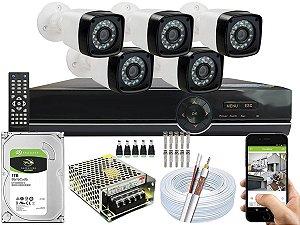 Kit CFTV 05 Câmeras EJCF-3200 e DVR de 08 Canais EJCF-9008T