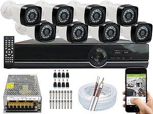 Kit CFTV 08 Câmeras EJCF-3200 e DVR de 08 Canais EJCF-9008T S/ HD