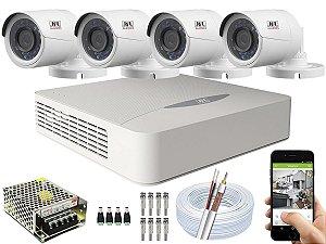 Kit CFTV JFL 04 Câmeras CHD-2230P e DVR de 04 Canais DHD-3304 S/ HD