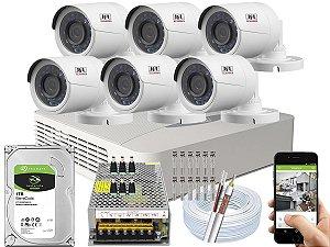 Kit CFTV JFL 06 Câmeras CHD-2230P e DVR de 08 Canais DHD-3308 10A