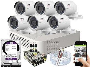 Kit CFTV JFL 06 Câmeras CHD-2230P e DVR de 08 Canais DHD-3308 1TB WD Purple