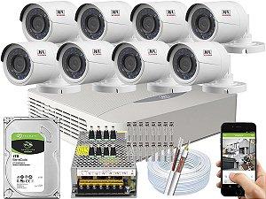 Kit CFTV JFL 08 Câmeras CHD-2230P e DVR de 08 Canais DHD-3308