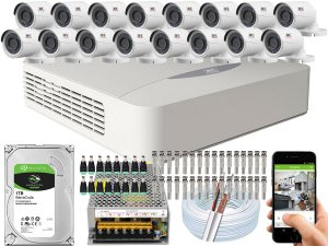 Kit CFTV JFL 16 Câmeras CHD-2230P e DVR de 16 Canais DHD-3316