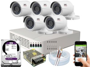 Kit CFTV JFL 05 Câmeras CHD-2230P e DVR de 08 Canais DHD-3308 1TB WD Purple