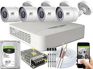 Kit CFTV JFL 04 Câmeras CHD-1110P e DVR de 04 Canais DHD-2104N 1TB