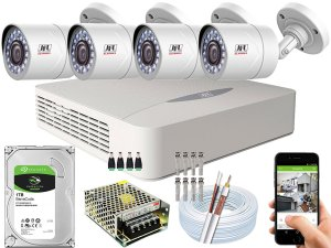 Kit CFTV JFL 04 Câmeras CHD-2110P e DVR de 04 Canais DHD-2104N 1TB