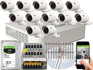Kit CFTV JFL 12 Câmeras CHD-1230P e DVR de 16 Canais DHD-2116N