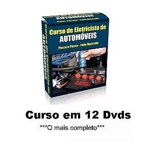 Curso de Eletricista Automotivo e Injeção Eletrônica, Completo e Exclusivo, Kit com 12 Dvds, Frete Grátis.