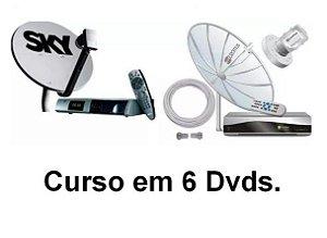 Curso De Antena Parabólica Bandas C E Ku, 6 Dvds com Aulas em Vídeo, Frete Grátis e Envio Imediato.