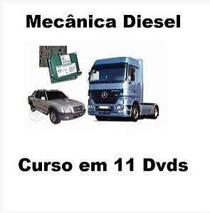 Curso  de Mecânica, Elétrica e Injeção Eletrônica Diesel, Kit Exclusivo com 11 Dvds, Frete Grátis