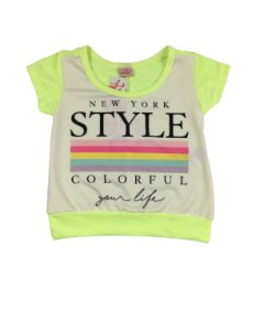 Camiseta Neon Color Girl
