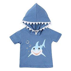 Camiseta Tubarão com Capuz Din Don