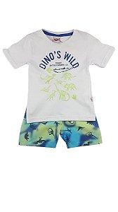 Conjunto Estampado Dinos Wild Kiko & Kika